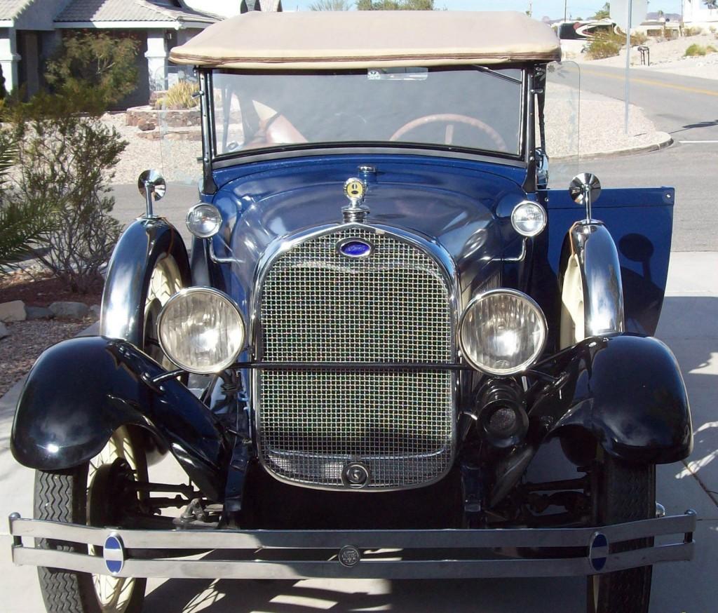 1928 ford ar 4dr pheaton original for sale. Black Bedroom Furniture Sets. Home Design Ideas