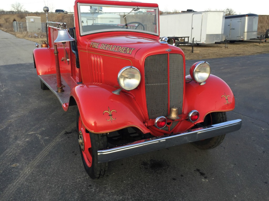 1935 chevrolet master american fire apparatus co fire truck for sale. Black Bedroom Furniture Sets. Home Design Ideas