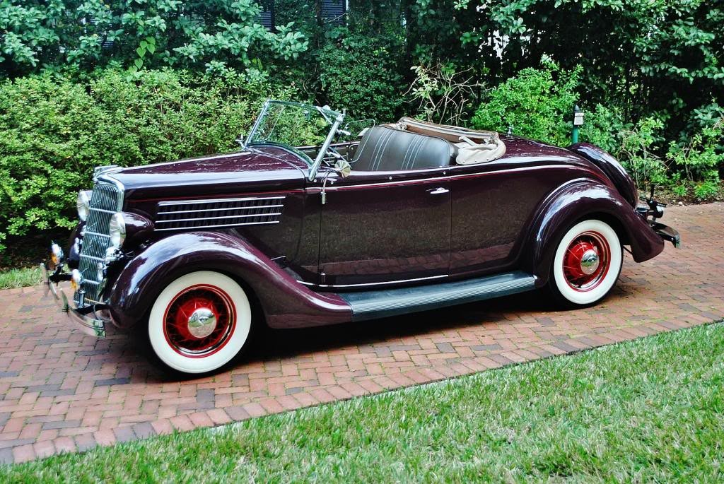 1935 Ford Deluxe Roadster Convertible For Sale