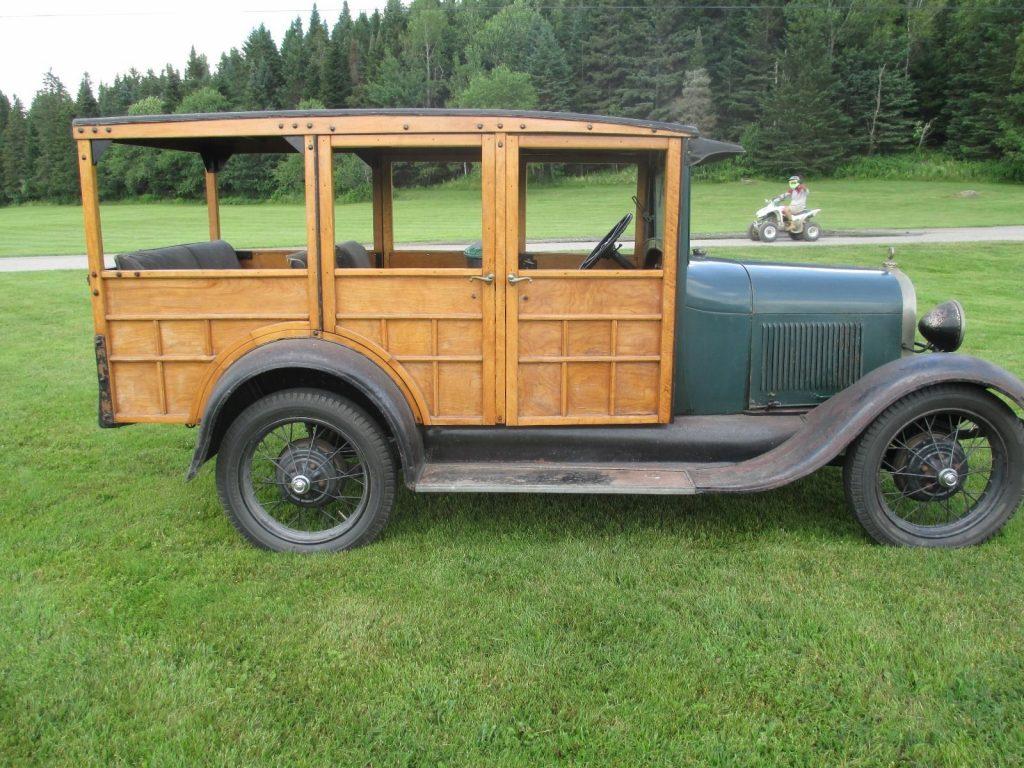 woody 1929 ford model a station wagon all original for sale. Black Bedroom Furniture Sets. Home Design Ideas