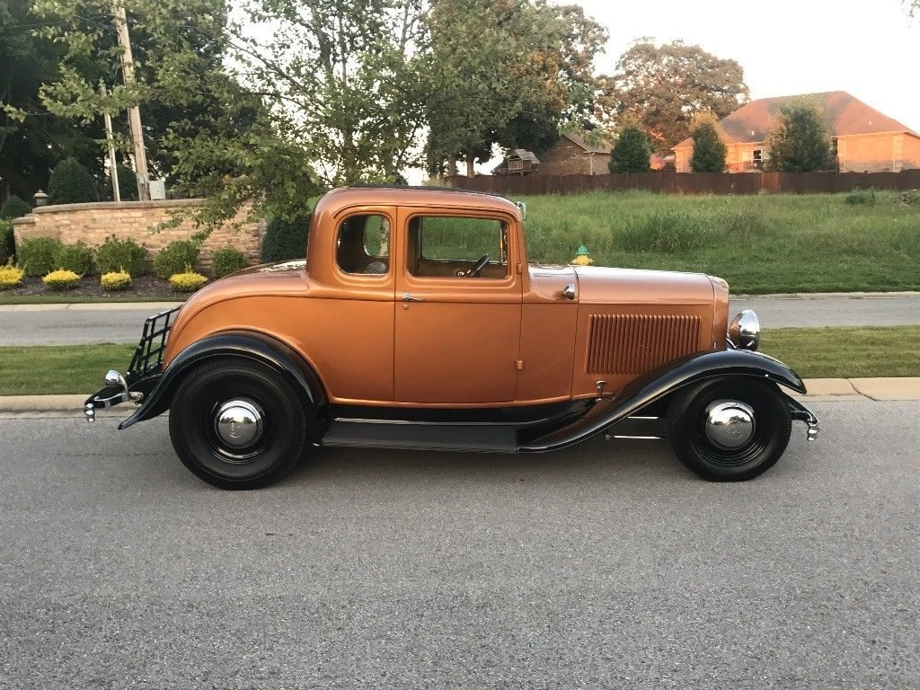 1932 Ford 5 Window Coupe Street Rod Steel