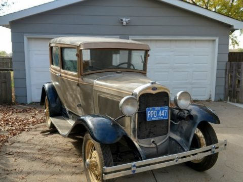 Old restoration 1930 Ford Model A Sedan for sale