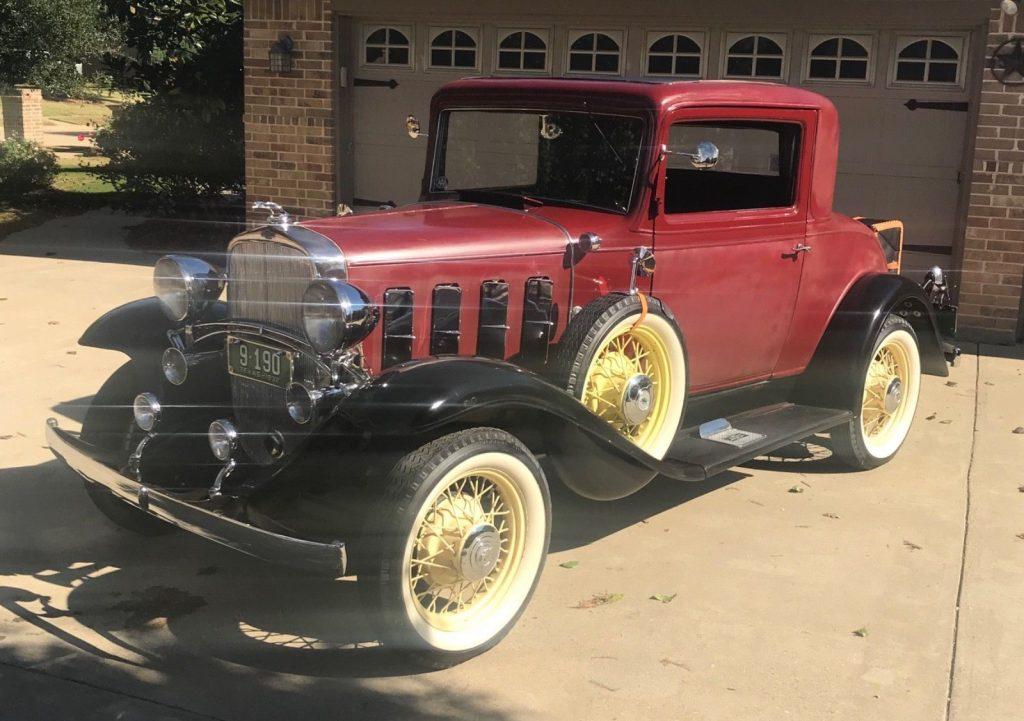 1932 Chevrolet Confederate Coupe Three window