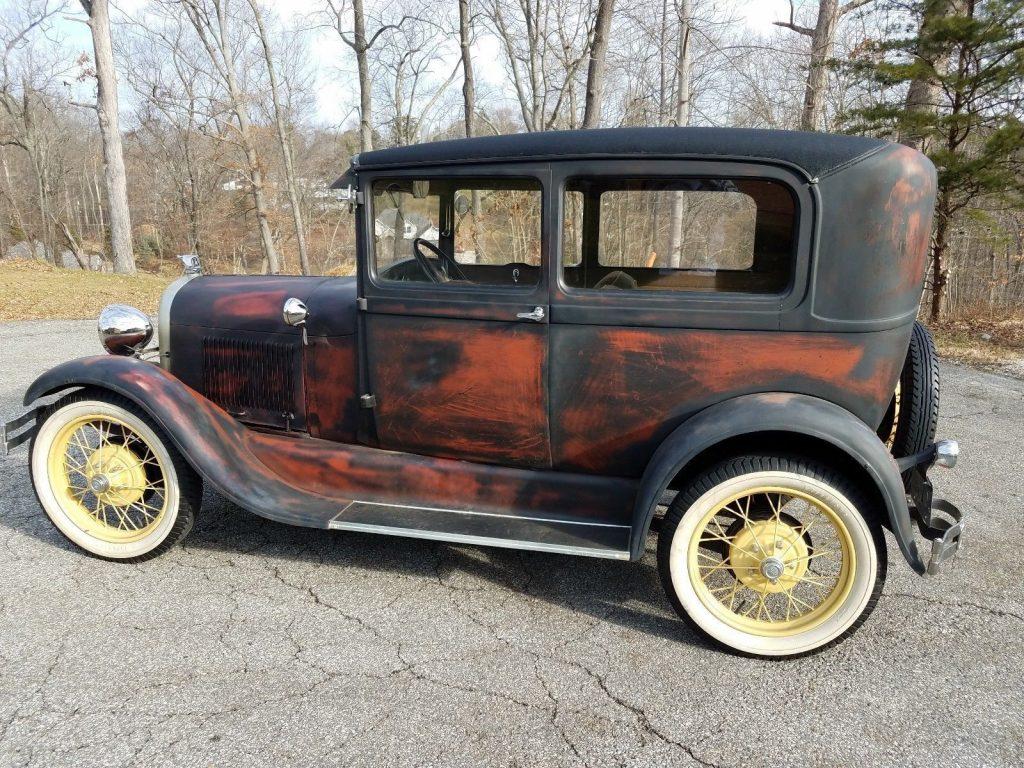 barn find 1929 ford tudor for sale. Black Bedroom Furniture Sets. Home Design Ideas