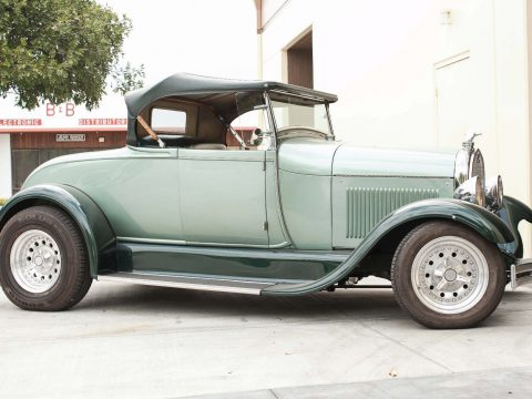 Green 1928 Ford Model A Roadster for sale