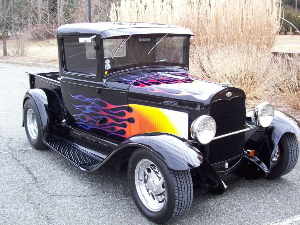 GREAT 1931 Ford Model A Black w/Flames